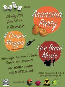 Arancina Party FLyer
